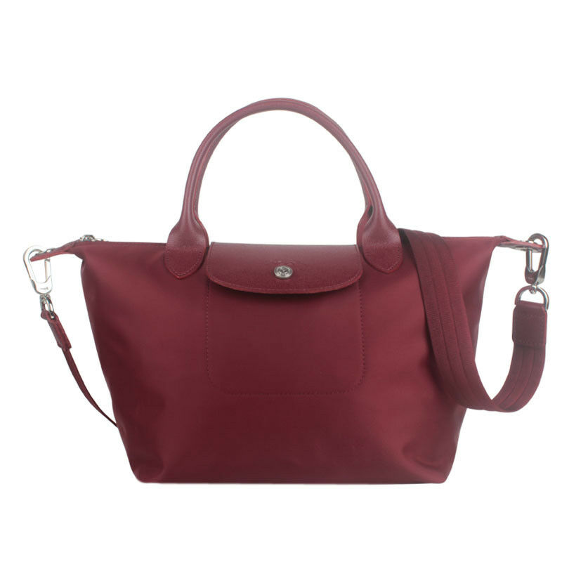 ea9c32d70ebf Longchamp Small Neo Handbag Wine Red Le Pliage Authentic