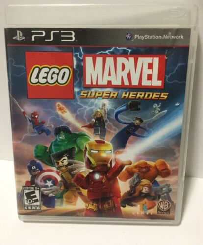 LEGO Marvel Super Heroes (Sony PlayStation 3, 2013) Complete Tested EX Condition