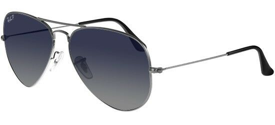 ebad89b604b Details about RAY BAN 3025 62 AVIATOR 004 78 GUNMETAL SUNGLASSES SOLE  GRADIENT GREY POLARIZED