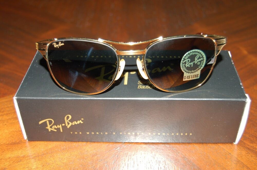 b6a1e2b40e New Vintage Ray Ban Signet Arista Classic Metal W0386 NOS B L Bausch   Lomb