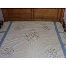 Quilt Top Embroidered Flowers 55