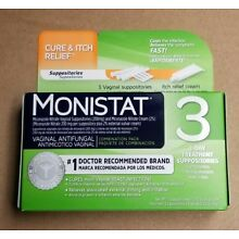 Monistat Vaginal Yeast Infection Treatment - Suppositories W Itch Relief Cream