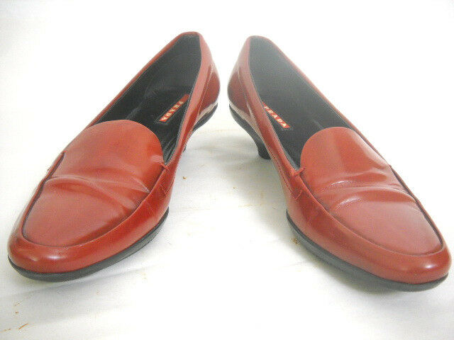 1482b33c81f Details about Prada Womens loafers EU 37 1 2 US 7M Red Patent Leather