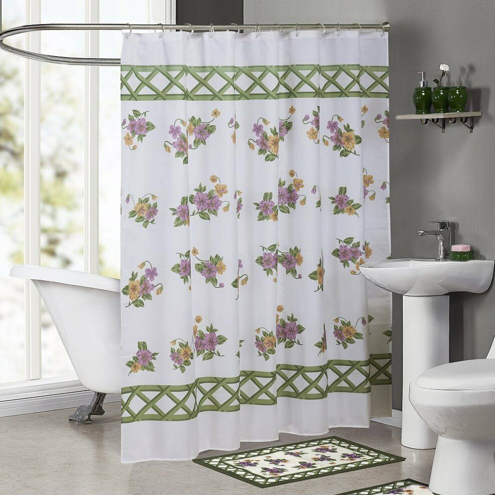 Details About Charlton Home Ringgold Pansy Single Shower Curtain