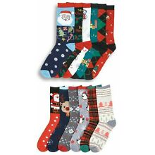 12 Pairs Crew Christmas Socks LOT Winter Warm Xmas Holiday Gifts USA Delivery