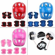 Protective Skateboard Safety Helmet Pads Set Skate Scooter Elbow Knee Wrist Kids