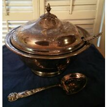 VINTAGE GORHAM  2 1/2 QT SILVERPLATE SOUP TUREEN SERVING BOWL