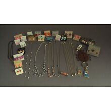 Little Girls Girl Children's Jewelry Lot of 37 Necklaces Earrings, Etc Used New