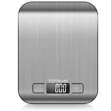 Homever Food Scale, 0.05oz/1g Accurate Kitchen Scale with Multifunction, Steel
