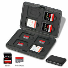Memory Card Wallet 8 SD+8 Micro SD TF Cards Protecter Storage Holder Pouch Case