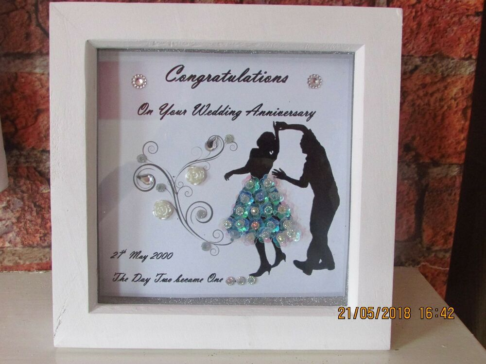 Personalised Wedding Anniversary Dancers Box Frame Gift Ebay