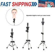 Hairdressing Tripod False Head Holder Training Stand Hair Wig Mold Clamp Hot