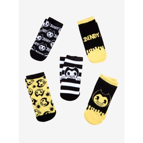 new-bendy-and-the-ink-machine-noshow-ankle-socks-5-pair-pr