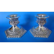 Antique Derby SP Co Sterling Silver Plate Candle Stick Holders