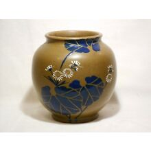 Antique Japanese Hand Thrown Pottery Vase, 5-1/2 inch, Exc. Cond.