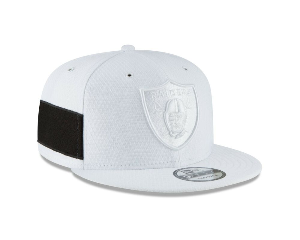 c60720a0abc Details about Oakland Raiders New Era White 2018 NFL Sideline Color Rush 9FIFTY  Snapback Hat