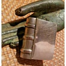 BOOK SHAPED STERLING Pill Stamp Trinket BOX with hinged COVER Mexico