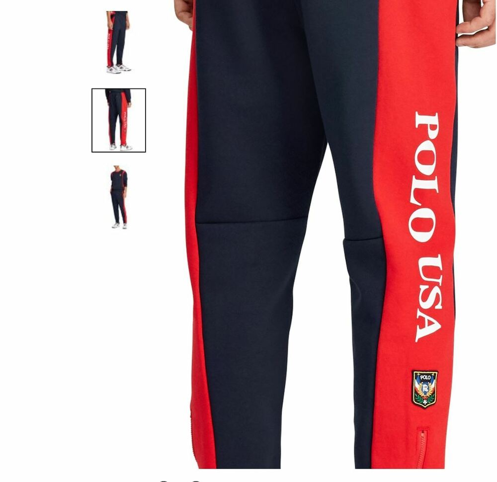 5e7d3e875ee37 Details about Polo Ralph Lauren POLO USA Track Sweat pants Vintage Hi Tech  Ski Stadium 92 XXL