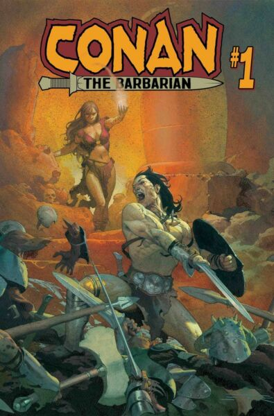 CONAN THE BARBARIAN #1 Marvel 2018 Regular Assad Ribic cover