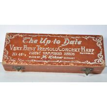 Vintage Hohner Harmonica Box ONLY No 46 1/2 Tremolo concert Harp Up to Date