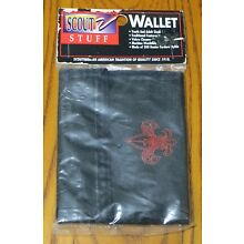Boy Cub Scout Black Velcro Wallet - BSA - Made in the USA - NEW