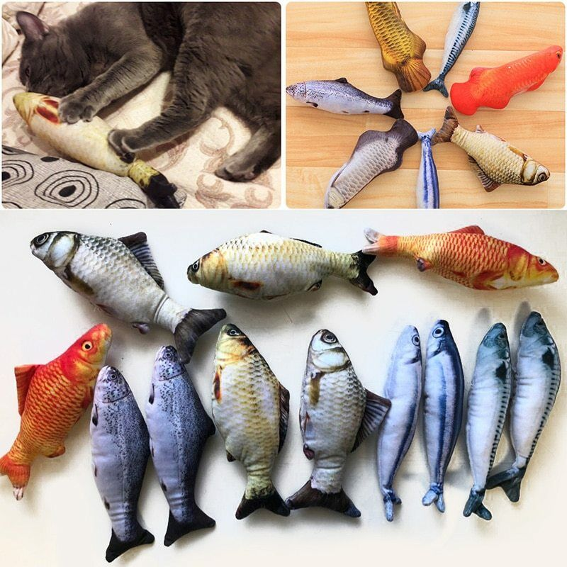 Catnip <b>Toys</b> For <b>Cats Simulation Fish</b> Plush <b>Pet Toys</b> Chew <b>Toy</b> ...