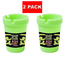 2X Glow in the Dark Cup Style Car Auto Self Extinguishing Ashtray Cup Holder