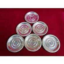 Set of 6 Antique Rogers English Gadroon Sterling Silver 3