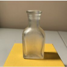 Vintage Cutex Nail Frosted Glass Bottle Empty Approx. 2.75