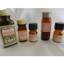 LOT OF 5 DRUG STORE BOTTLES WITH LABELS AND CONTENTS FROM CLOSED PHARMACY