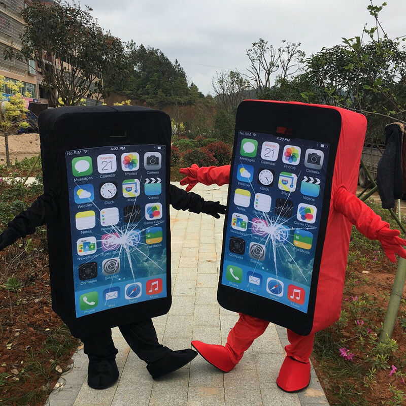 Details about Advertising Cell Phone/Mobile Phone Mascot Costume Adult Size  100% Real Picture