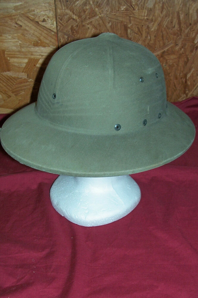 6fd2045aba Details about Old US Navy Pith Helmet USN OD Green Military USMC Marine  Corps Jungle WWII WW2