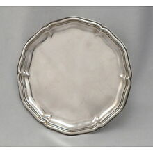 Vintage 830 SILVER GERMANY Small Tray Dish GERMAN Wilkens & Sohne Gadroon Edge