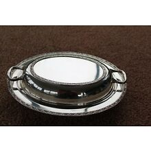 """Vintage Wallace Luxor Silver Plate 11 ½"""" Covered  Dish """"Montrose"""""""