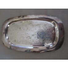 cream & sugar tray silver plate 9 1/4