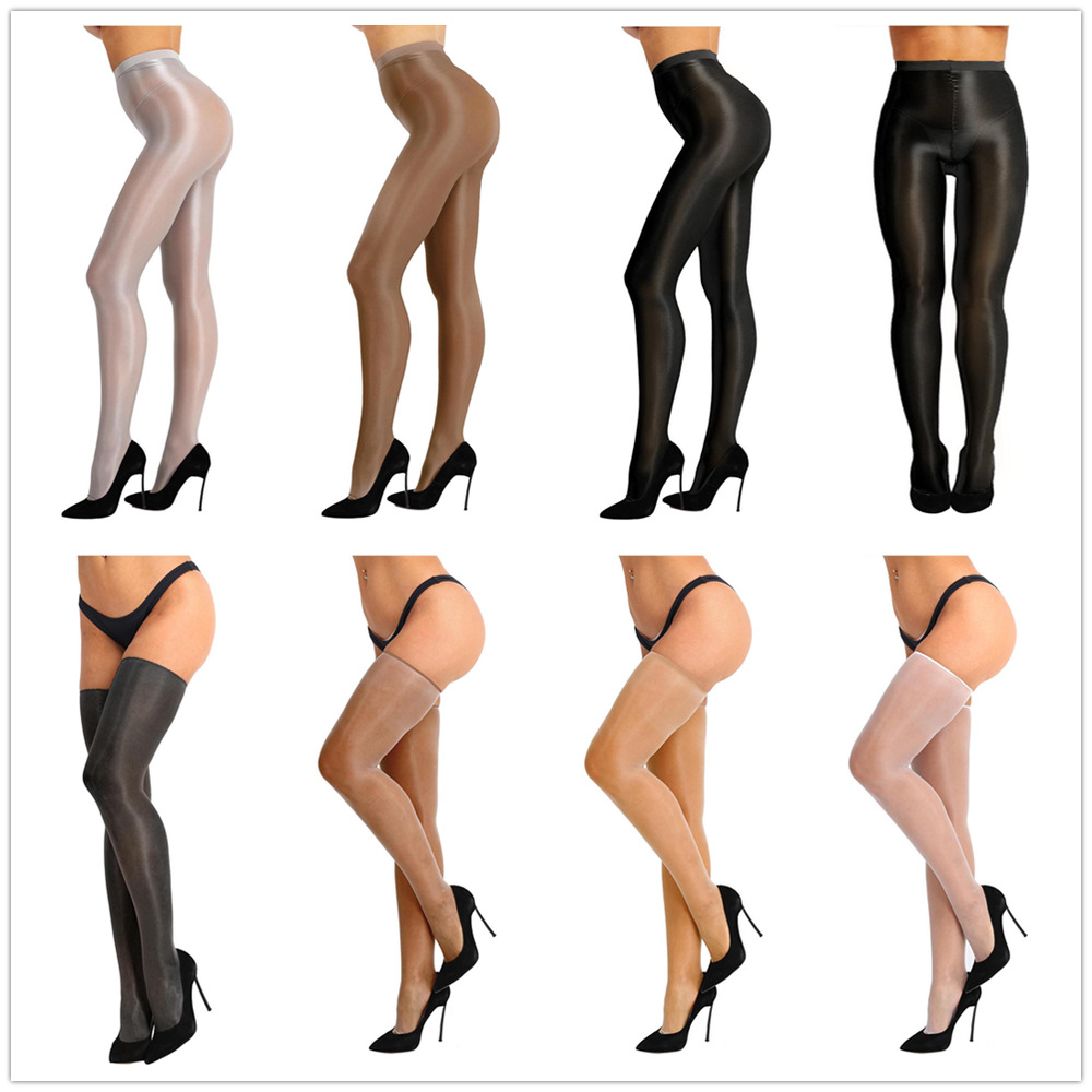 48bc8a4cf72 Details about Sexy Women Sheer Pantyhose High Waist Tights Shiny Silk  Stockings Socks Hosiery