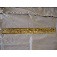 1900'S COMPUTER SCALE CO. DAYTON OHIO ~ BRASS? SCALE MARQUEE SIGN PLAQUE
