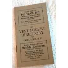 1938 POLITICAL POCKET DIRECTORY STATE S.C. CITY & COUNTY OFFICIALS-ANCESTRY INF.