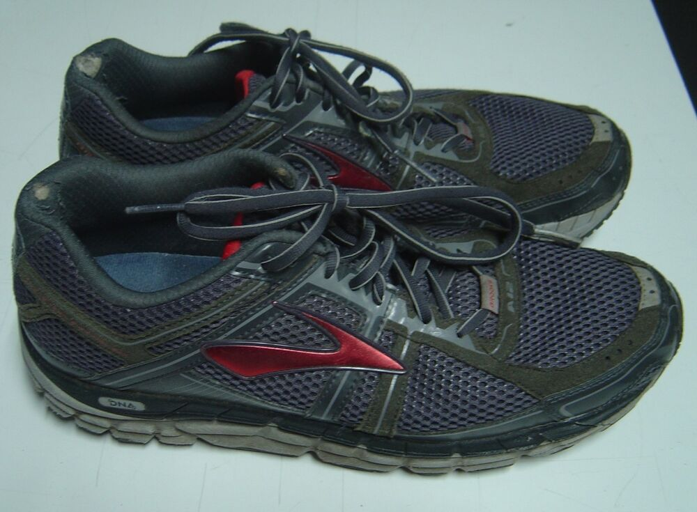 e3691365aac Details about Brooks Addiction 12 Size 11.5 Medium Grey Red Men s Athletic  Running Shoes Used