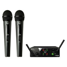 AKG WMS40 Mini Dual Vocal Set Wireless Handheld Microphone System (Band A/C)