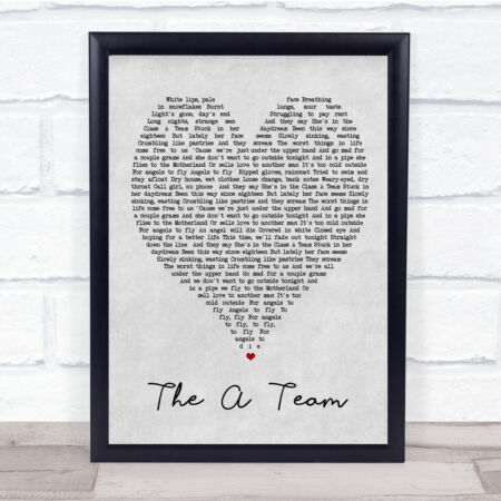 img-The A Team Grey Heart Song Lyric Quote Print