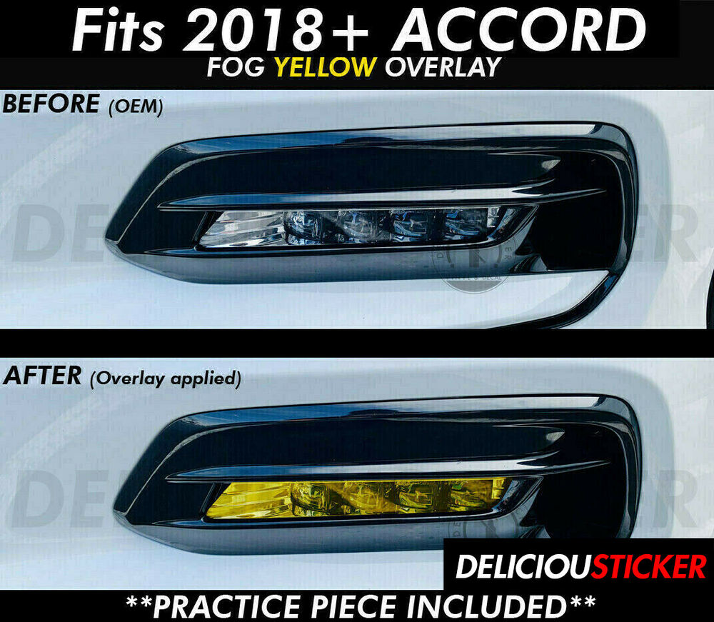 2018 2019 Honda Accord Sedan Front Fog Light Yellow