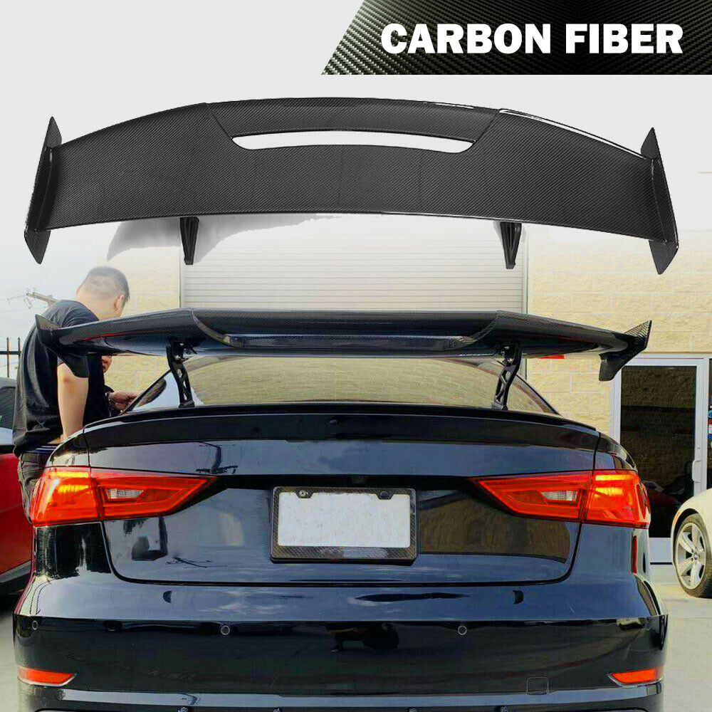Carbon Fiber Rear Trunk Spoiler Gt Wing For Bmw F30 M3 M4 Benz Audi