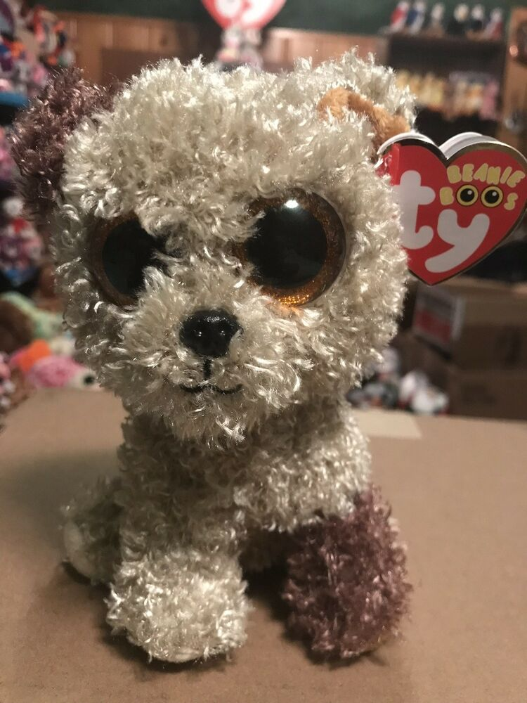 """649eddf3661 Details about Ty ROOTBEER -Tan Brown Nappy Fur Terrier Dog 6"""" Beanie Baby!   Retired  RARE VHTF"""