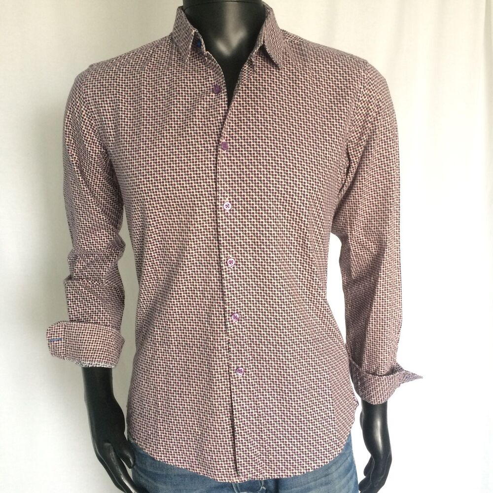 Etro Mens Sport Dress Shirt Size 40 Eur 50 Purple Button Down
