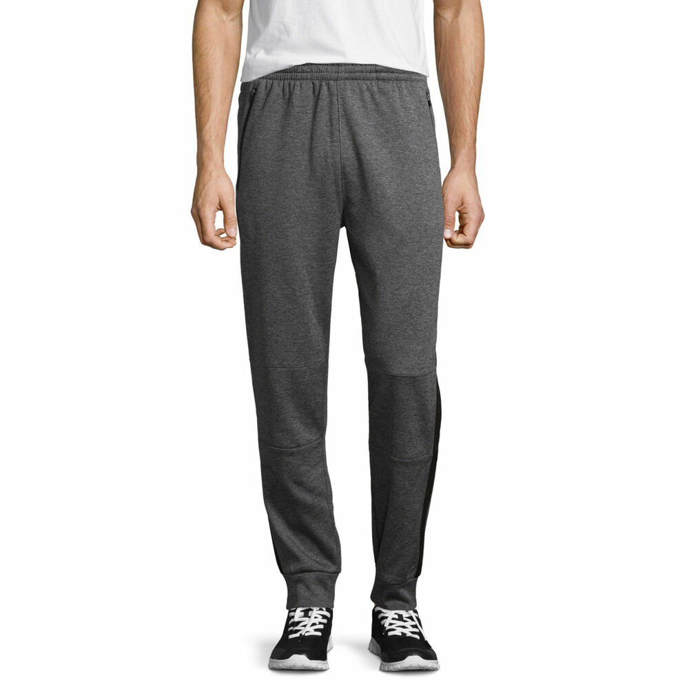 bdbd7176553c7 Details about Asics Jogger Pants Mens Heather Gray Knit Performance Fleece  Athletic Joggers