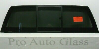 FOR 2015-2019 Ford F-150 REAR MANUAL SLIDER BACK TINTED SLIDING WINDOW GLASS