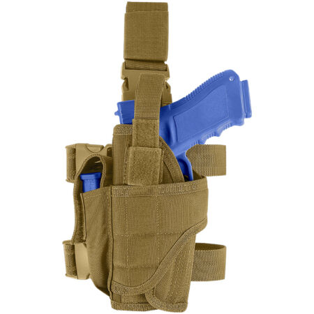 img-Condor Left Handed Leg Holster Tactical Pouch Airsoft Army Combat Coyote Brown
