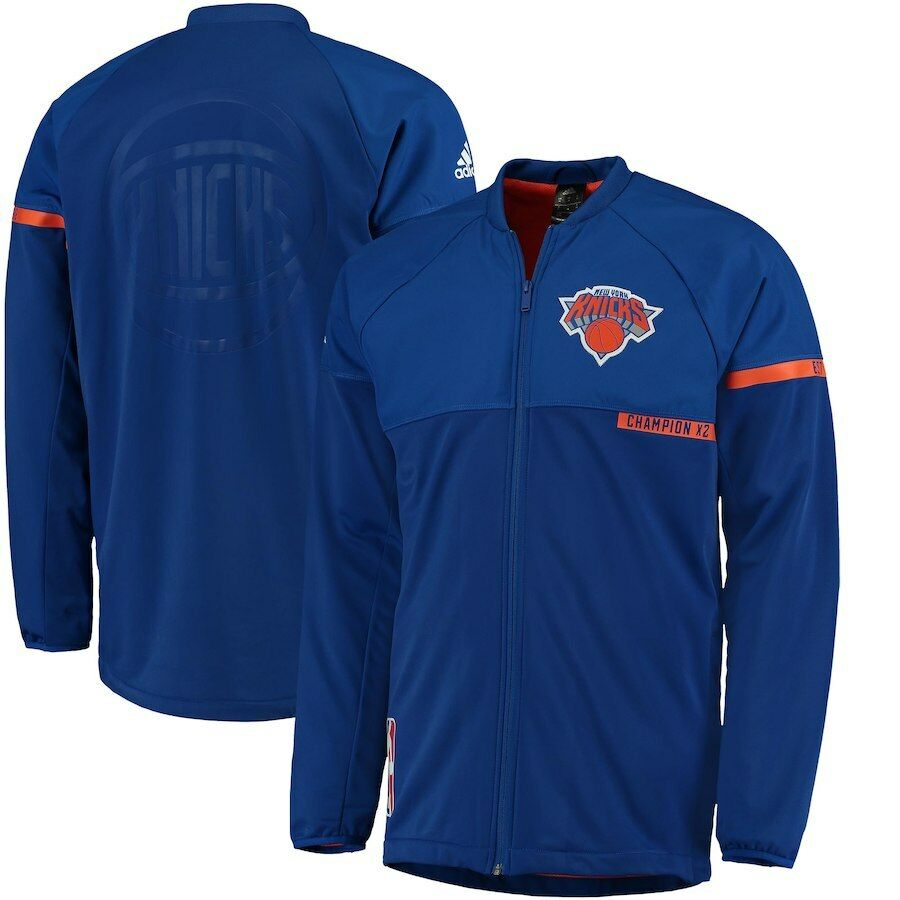 8d3913ea2755f Details about New York Knicks Adidas On-Court Warm-Up Jacket Coat 2X NBA  World Champions Men s