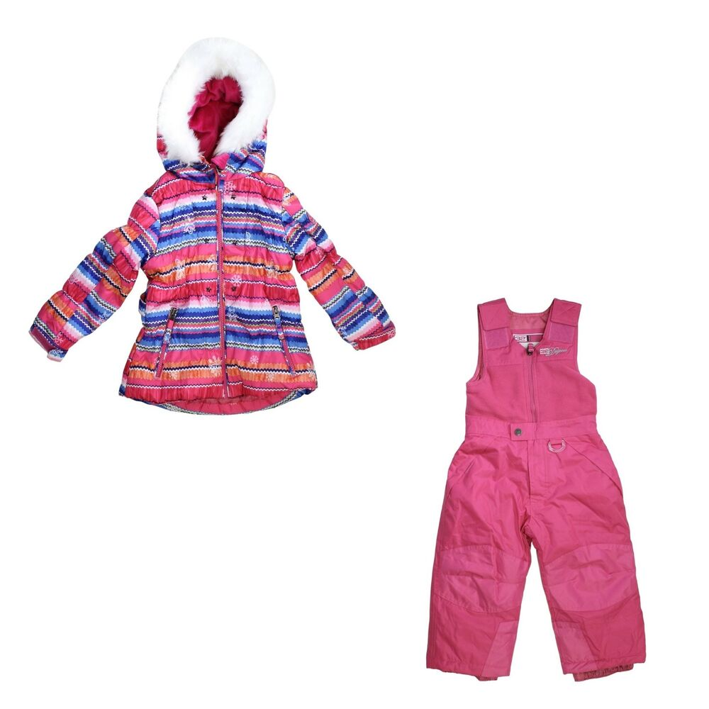 d2a3920be02c Weatherproof 32 Degrees Hooded Jacket and Snow Bib Pants 2 Piece Set ...